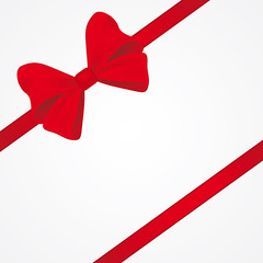 Big red bow for packaging
