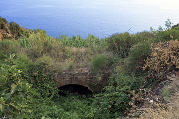 A gully along the seacoast, Pisciotta, Italy