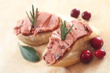 Canapes with Liver Pate
