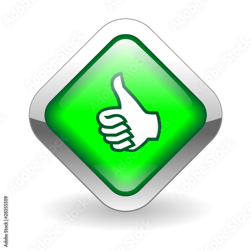 Instant Yes Button : Quot thumbs up web button customer satisfaction like ok go