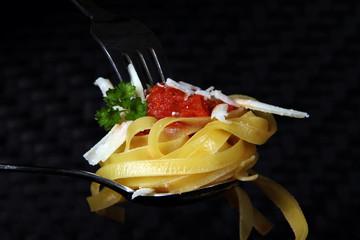 Pasta mit Parmesan