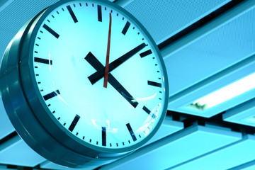 clock in modern interior