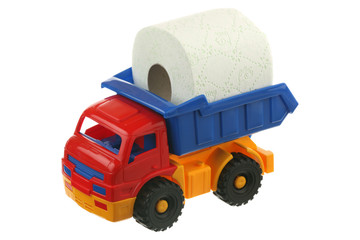Toilet paper in the truck