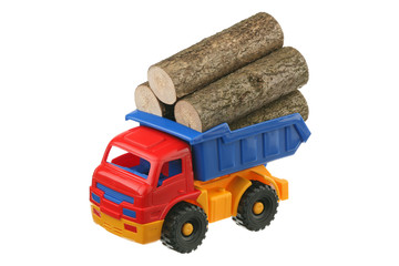 Logs in the truck