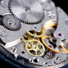 gears of wristwatch