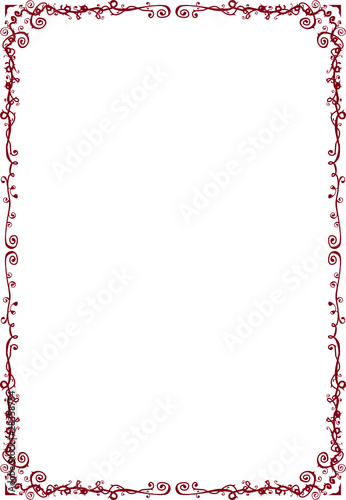 Ornate classic deep red A4 frame\