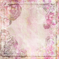 Vintage background in pink colors with flower