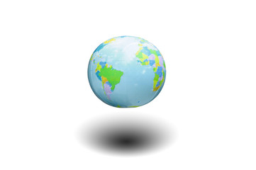 earth model isolated on white background