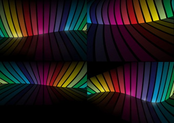 Virtual rainbow color vector  background collection