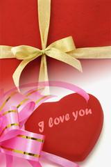 Decorative ribbons and heart shape symbol
