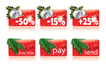 Christmas buttons for your website