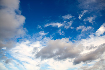 The sky with clouds for a background