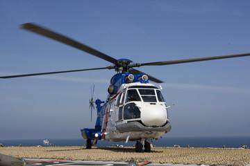 elicottero a bordo