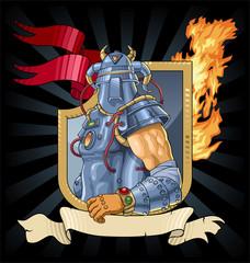 Spoed Foto op Canvas Ridders Knight in armor