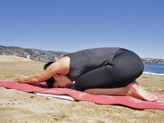 Bikram yoga ardha kurmasana pose