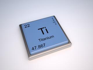Titanium chemical element of the periodic table with symbol Ti