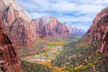 Foto op Canvas Natuur Park Zion Canyon National Park