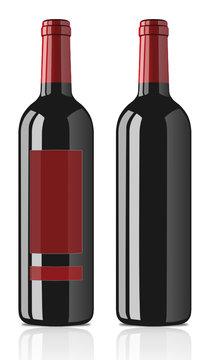 Bouteille de vin rouge classé