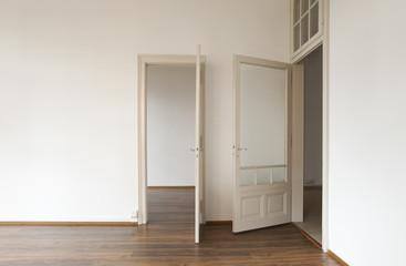 two doors open