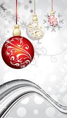 abstract christmas balls