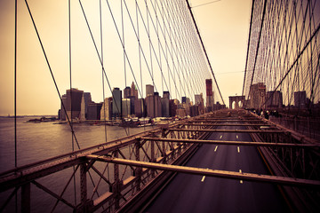 View of the Financial District from the Brooklyn bridge
