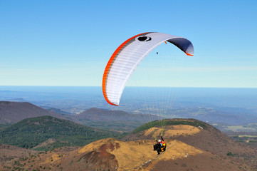 Paragliding above the chaine of volcanic hills 1