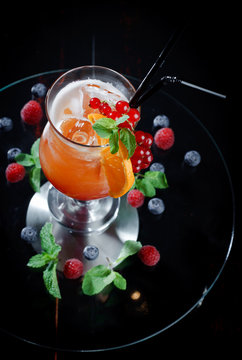 Orange-red coctail