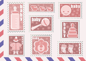 Postage stamp. Baby collection.