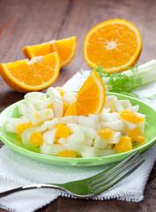 frischer Fenchel Orangen Salat