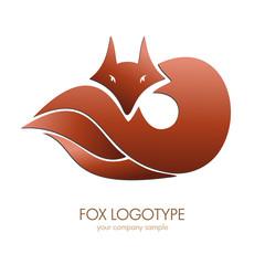 Logo Fox. Voncept of cunning # Vector