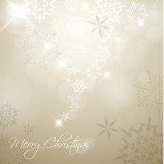 Golden Vector Christmas background