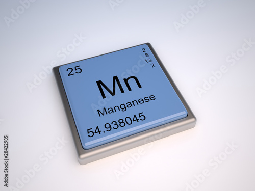 chemical element and manganese Manganese (countable and uncountable, plural manganeses) english wikipedia has an article on: manganese wikipedia  a metallic chemical element (symbol mn) with an atomic number of 25 2013 september-october, katie l burke,  chemical element afrikaans:.