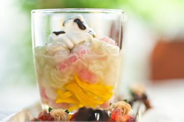 Tab Tim Grob - Red Rubies -  Thai dessert