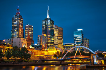 Melbourne City and Yarra River from Southbank