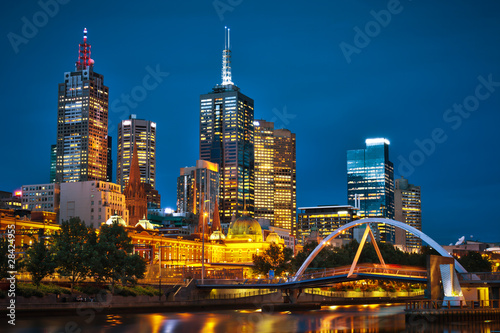Fototapete Melbourne City and Yarra River from Southbank