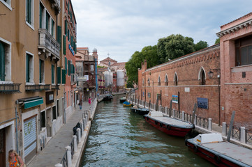 Small silent channel in Venice, Italy