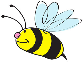 Vector cute and funny honeybee illustration