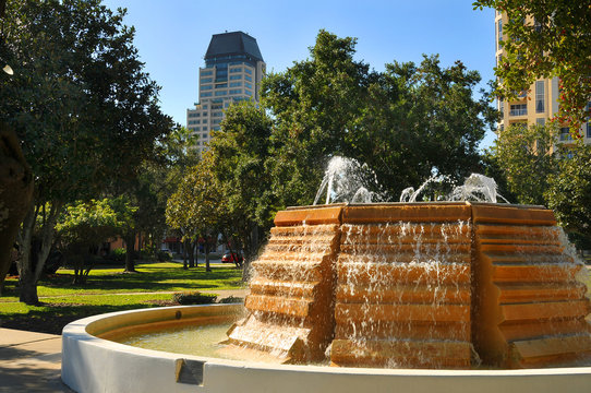 Downtown Park in Sunny St. Petersburg, Fl.