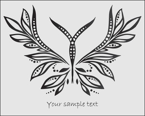 Stylized abstract butterfly