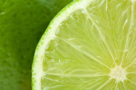 Ripe lime closeup