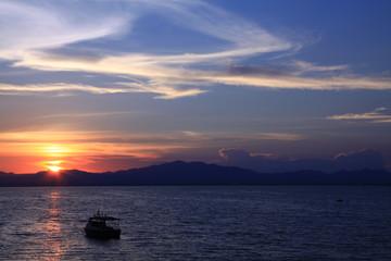 Thai ship at sea