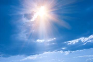 sparkle sun in a clouds