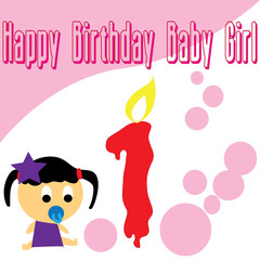 Baby girl first birthday wallpaper