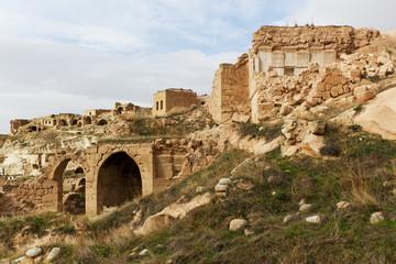 Ruins of Cavusin in Cappadocia, Turkey