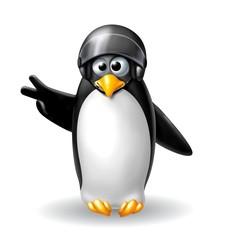 pinguino biker