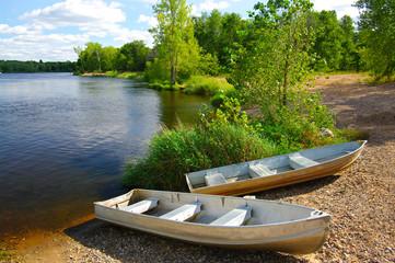Small Boats on Shore