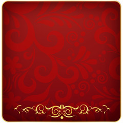 Red frame in vintage style