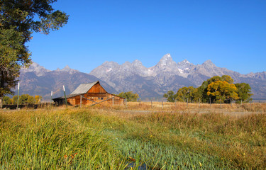 Mormon barn in Grand Tetons national park.