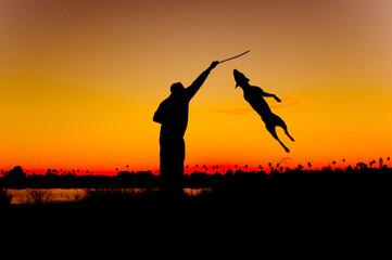Foto op Canvas Jacht Sunset