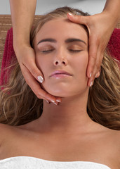 Face massage at the Spa